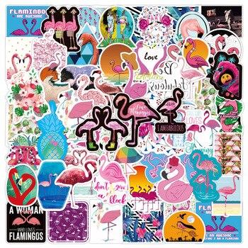 50pcs Cute Kawaii Animal Flamingo Sticker Package Cartoon Decorative Stationery Sticker Scrapbooking DIY Diary Album Scrapbook 60pcs lot recalling the time paper sticker decoration diy cartoon scrapbooking stickers album kawaii sticker stationery