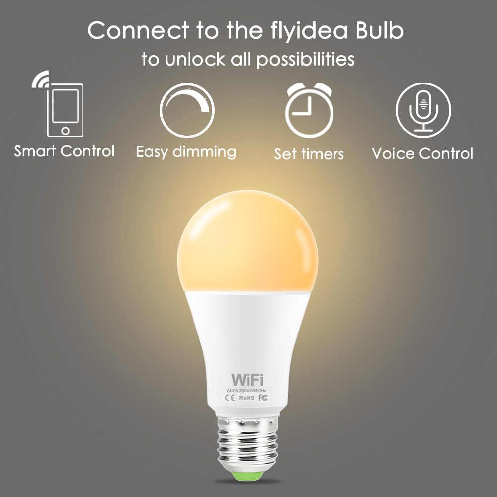 หรี่แสงได้ 15 วัตต์ B22 E27 WIFI สมาร์ทไฟ LED หลอดไฟ LED APP ใช้งาน Alexa Google Assistant ควบคุม Wake Up สมาร์ทโคมไฟ Night Light