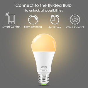Image 2 - Dimmable 15W B22 E27 WiFi Smart Light Bulb LED Lamp App Operate Alexa Google Assistant Control Wake up Smart Lamp Night Light