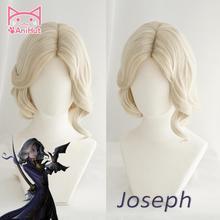 Photographer animut】fotógrafo joseph peruca jogo identidade v caçador cosplay peruca cabelo sintético identidade v fotógrafo joseph traje