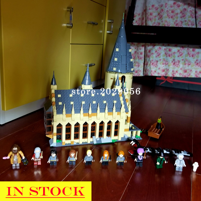 In Stocks 11007 Potter Magic World Great Wall House Hall Castle Building Blocks 75954 16052 16030 4842
