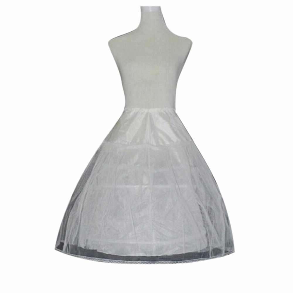 2019 משלוח מהיר חתונה אביזרי ילדים בנות תחתונית Vestido לונגו שמלת קרינולינה תחתוניות חצאית במלאי