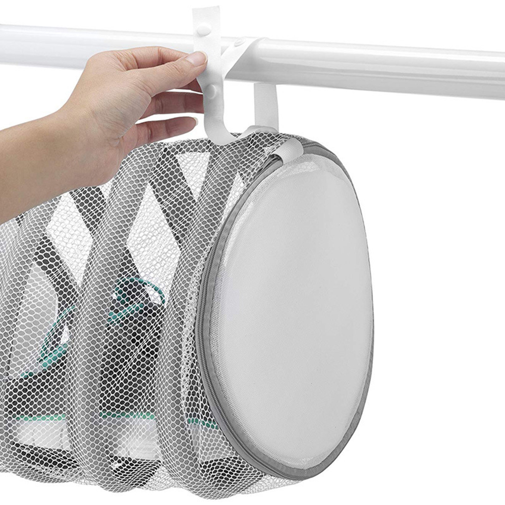 Home Machine Laundry Bathroom With Hanging Loops Polyester Drying Shoe Wash Bag Protective Zipper Closure Durable Washing Net