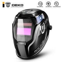 Deko crânio solar escurecimento automático faixa ajustável 4/9-13 mig mma máscara de soldagem elétrica capacete lente de soldagem para máquina de solda