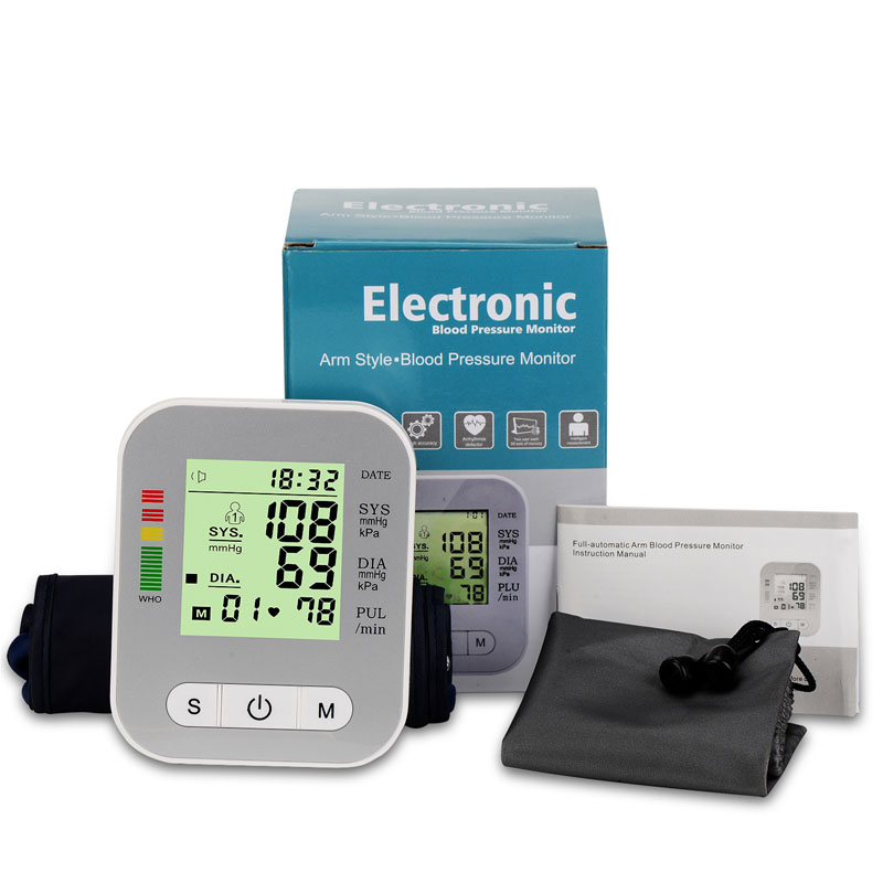 Health Care BP Blood Pressure Monitor Machine Upper Arm Blood Pressure Meter Sphygmomanometer Tonometer For Measure Tensiometro