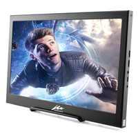 Monitor de juegos IPS de 15,6 pulgadas, portátil, Delgado, HD, 1920x1080, con salida de Audio HDMI, altavoz incorporado alimentado por USB para PS4/3