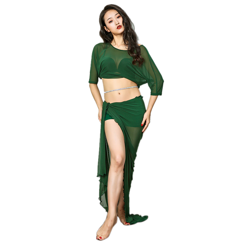 Lace Hip Scarf Hip Waist Skirt one piece Belly Dance Costumes Practice Dancewear