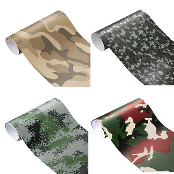 3D Camo PVC Vinyl Sheets Film Auto Car Sheet Wrap Roll Sticker Decor 8x60 Car Body Sticker image