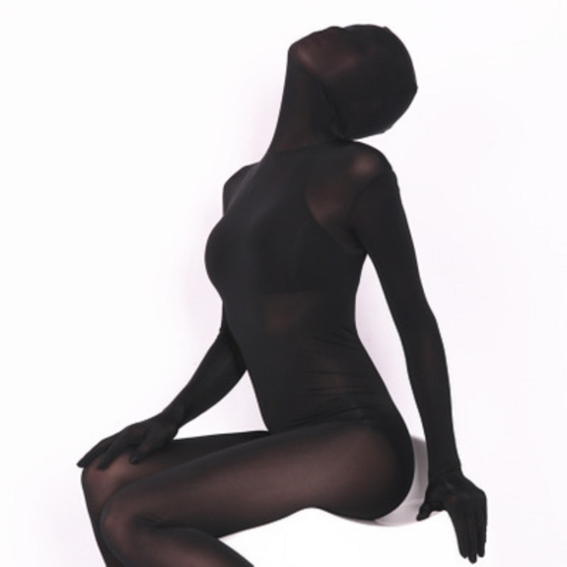 Woman Abdomen In Sexy Seamless High Bounce Perspective Ice Silk All-Inclusive Tights A <font><b>Catsuit</b></font> <font><b>Sex</b></font> Temptation Appeal Clothing image