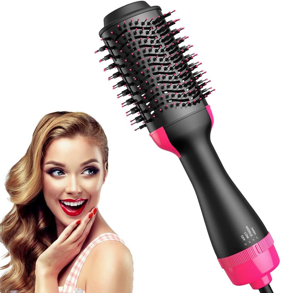 מקצועי 2 ב 1 רב תכליתי שיער מייבש מעניק נפח אחד צעד שיער ייבוש מברשת חשמלי חם אוויר מברשת מסתובב מייבש שיער