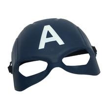 PVC Captain America Mask Civil War Half Face Avengers Captain US Halloween Mask