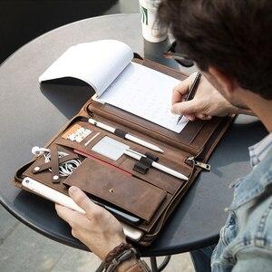 """Image 5 - Archiwalne skórzane etui na padfolio dla iPad Pro 11 10.5 Air 3 10.2 """"Tablet Protector dla iPad 9.7 Air 2 zapinany na zamek dziennik Holder"""