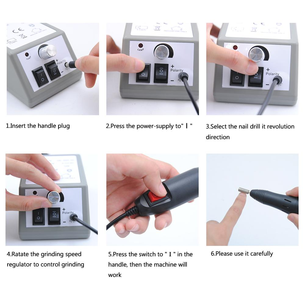 Manicure Machine Set 300pc Sanding Bands Nail Drill Ceramic Gel Nail Polish Remover Milling Cutter For Manicure For UV Gel Tools