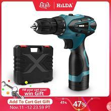 Hilda電気ドリルコードレスドライバーリチウム電池ミニドリルコードレスドライバー工具コードレスドリル