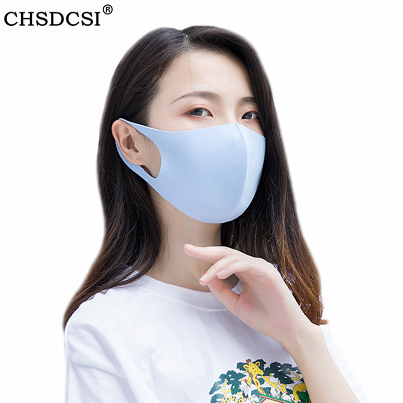 CHSDCSI Cotton Thin Mask Men Women Dustproof Earloop Face Mouth Mask Summer Anti Air Dust Pollution With Straps Washable Mask