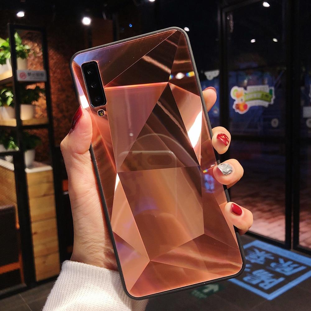 3D Diamond Glitter Mirror Soft Case For Samsung A520 A530 A730 A6 PLUS A750 A9 A20 A30 A40 A50 A70 A80 A2 A10S CORE Galaxy Cover