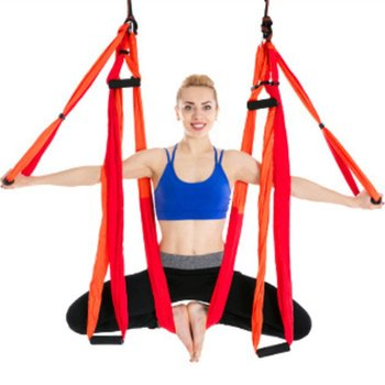 6 Handles Aerial Yoga Hammock Swing Anti-Gravity Fitness Invertion Pilates Sling Fitness Inelastic Rope Home Gym Exercise