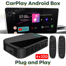 NEW 4+32G Carplay AI Box Universal Car Android 9.0 System GPS for Mercedes Benz Porsche Audi Peugeot SKODA Cadillac Buick Volvo