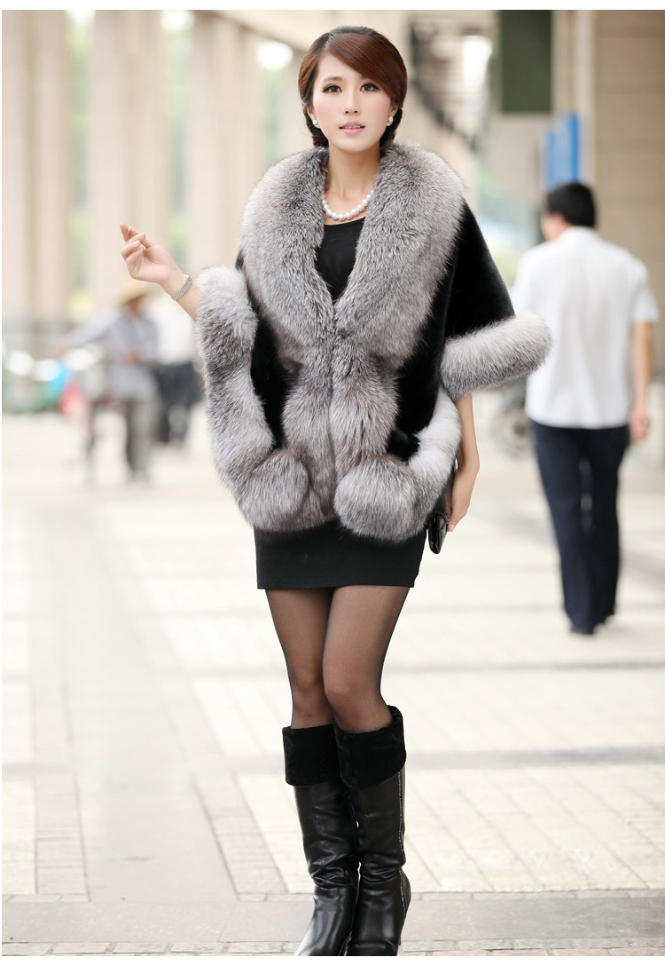 Women Bridal Shawl Fur Faux Fur Wrap Wedding Cape Shawl Fur Cape Winter Fur Jacket Manteau Femme