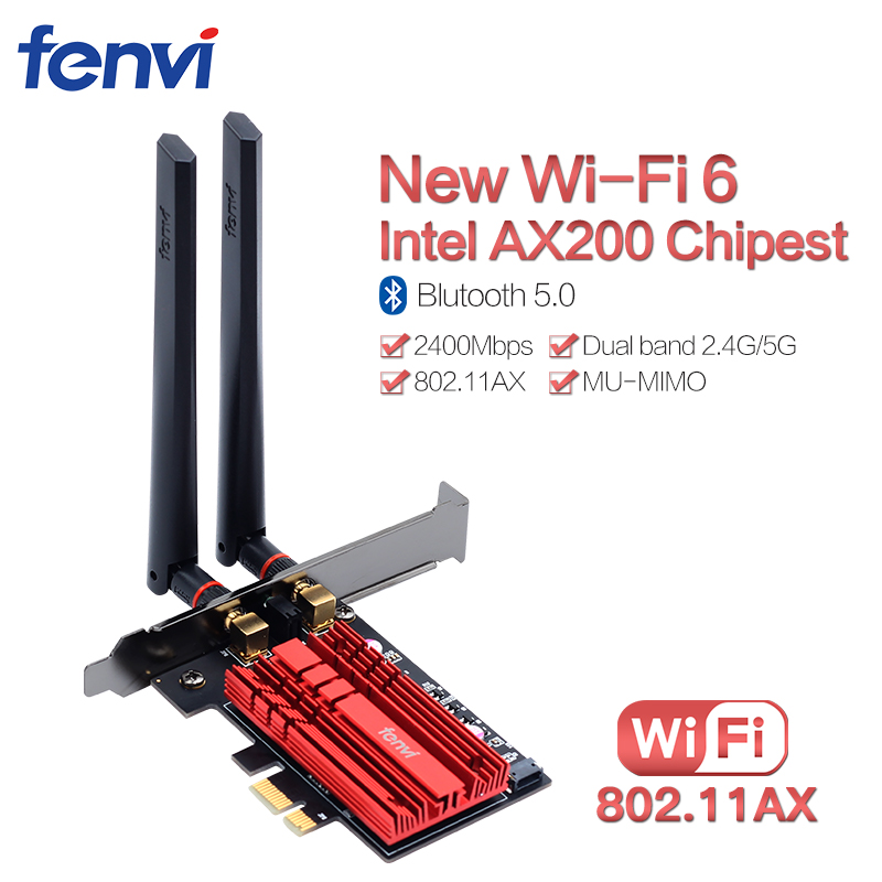 2400Mbps PCI Wifi Adapter Wireless-AC Lan Network Card For Intel AX200NGW NGFF 802.11ac/ax With Bluetooth 5.0 For Desktop Win10