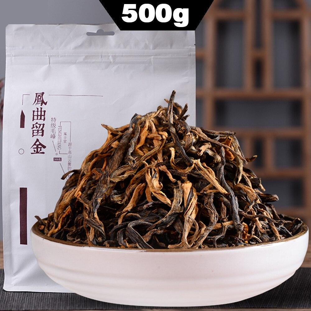 FENG QU LIU JIN çay * 2019 FengHetang DianHong siyah çay Yunnan Dian Hong Maofeng çay kırmızı 500g