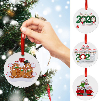 2020 Personalized Christmas Ornament Xmas Hanging Ornaments Family Gifts Round image