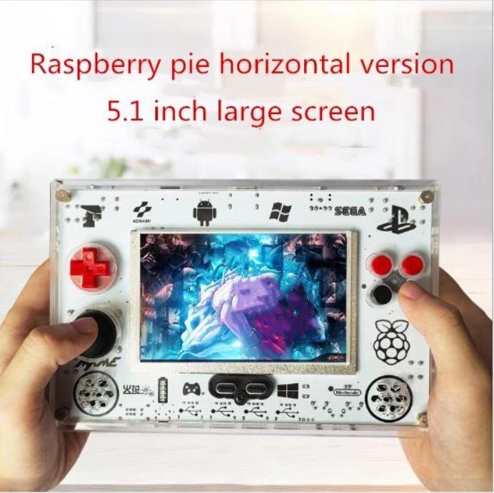 Сайт coolbaby ретро портативная игровая консоль RS82 5.1-дюймовый малиновый пирог с открытым исходным кодом 8000 мАч США штекер для PSP с PS1 Аркада