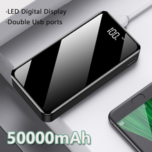 цена на 18650 Power Bank 50000mAh Fast Charger LED 2 Usb Portable External Battery Pack Batteries Powerbank for Samsung Xiaomi Phone