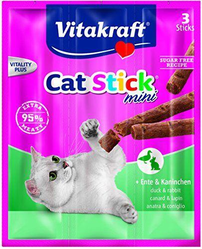 Vitakraft Cat-Stick Mini Duck & Rabbit (Bulk Deal Of 20) 400g