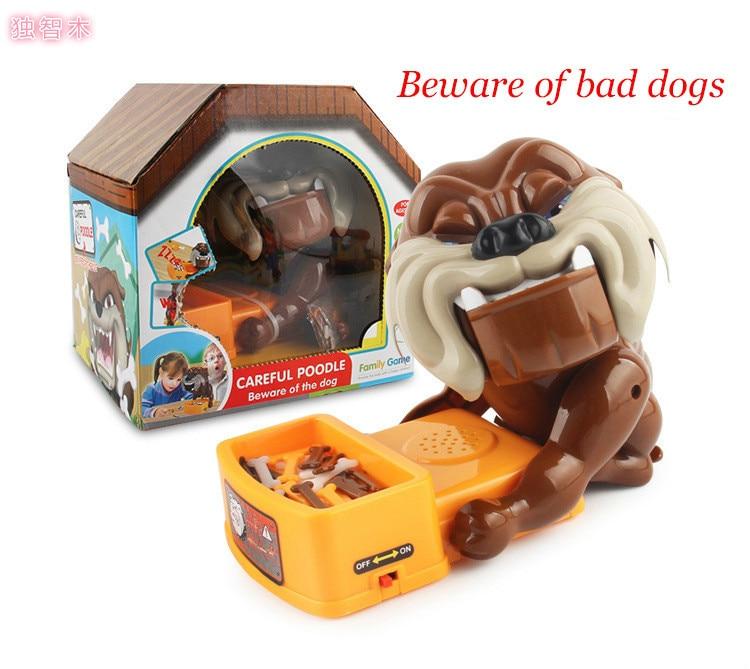 Be Careful Evil Dog Toy Steal Bone Evil Dog Bite Finger Clip Bone Fool's Day Trick Desktop Game Toy