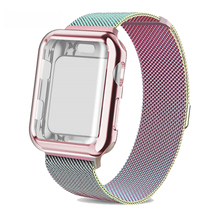 Watch Case strap for apple watch band 5 44mm 40mm iwatch 42mm 38mm Milanese Loop bracelet Stainless Steel watchband iwatch 4 3 2 watch case strap for apple watch 4 3 iwatch band 42mm 38mm 44mm 40mm milanese loop link bracelet stainless steel watchband