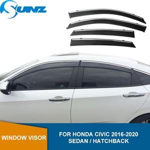 Image 1 - Finestra Air Vent Visiera per Honda Civic 2016 2018 Tenda da Sole Tende da Sole Rifugi Protezioni per Honda Civic 2016 2017 2018 Sunz