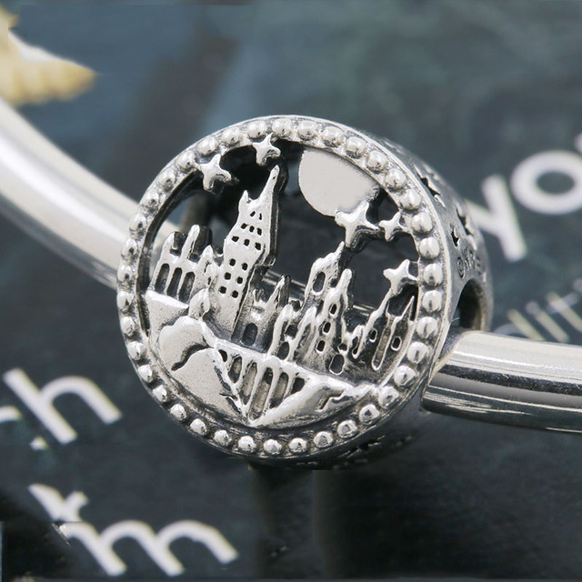 2020 new free shipping potter style School of Witchcraft  Hogwarts Express  bead fit Original Pandora charms silver 925 bracelet