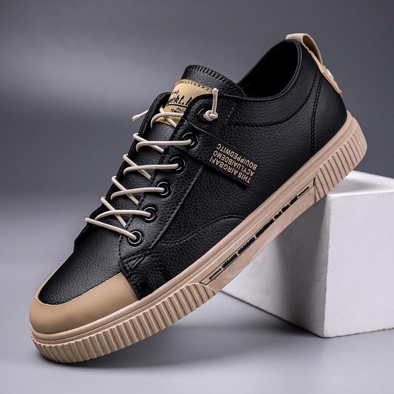Solid Sneakers Men Shoes Footwear Casual Low Shoes Men Sneakers Breathable Vulcanized Shoes Male Tennis Vintage Handmade Shoes