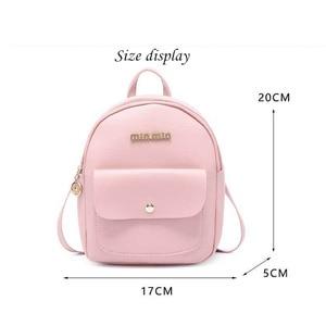 Women Backpack Small Shoulder Hand bags Female Back pack 2019 Simple Fashion Multi-Function Mini Bag for Little Girls