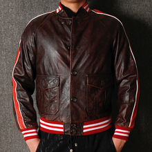 US Air Force Cow Leather Jacket Autos Trench Coat Automotive Mens Genuine Leather Jacket Spring Autumn Plus Size Streetwear A800(China)