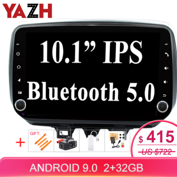 YAZH 32GB Car Autoradio Multimedia GPS For Hyundai Tucson/ Ix35 2019 With Android 9.0 Octa Core Head Unit 10.1 inch display