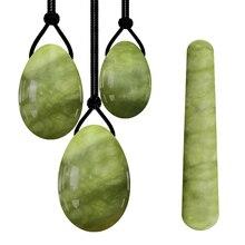 O envio da gota jade yoni conjunto de ovos kegel jade ovos aperto vaginal 100% jade ovo kegel músculo exercitador yoni massagem bola