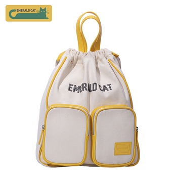 2019 Emerald cat Fashion Women Backpack Female Shoulder Bag Travel Bag Canvas Backpack School Bags for Teenagers Women Bags thikin moonlight wolf students school bag for boys teenagers backpack travel package shopping shoulder bag women mochila
