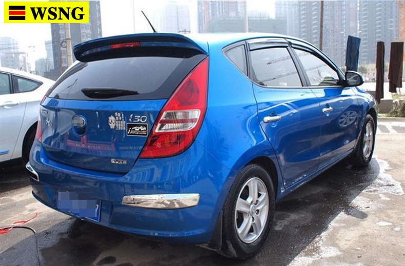 Car Styling Exterior ABS Plastic Primer Color Rear Spoiler Tail Trunk Wing Decoration Fit For Hyundai i30 2010-2015 Spoiler