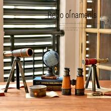 Винтажный астрономический кронштейн телескопа, европейский домашний декор, винная смола для шкафа, реквизит, статуэтка для офиса, настольные украшения