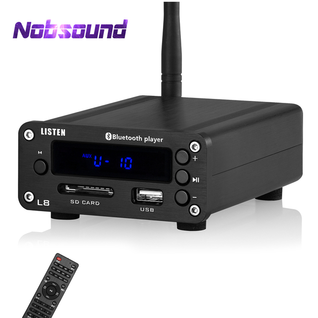 Nobsound HiFi Bluetooth 5.0 דיגיטלי מגבר סטריאו מקלט שולחן העבודה אוזניות Amp SD / USB מוסיקה נגן FM רדיו