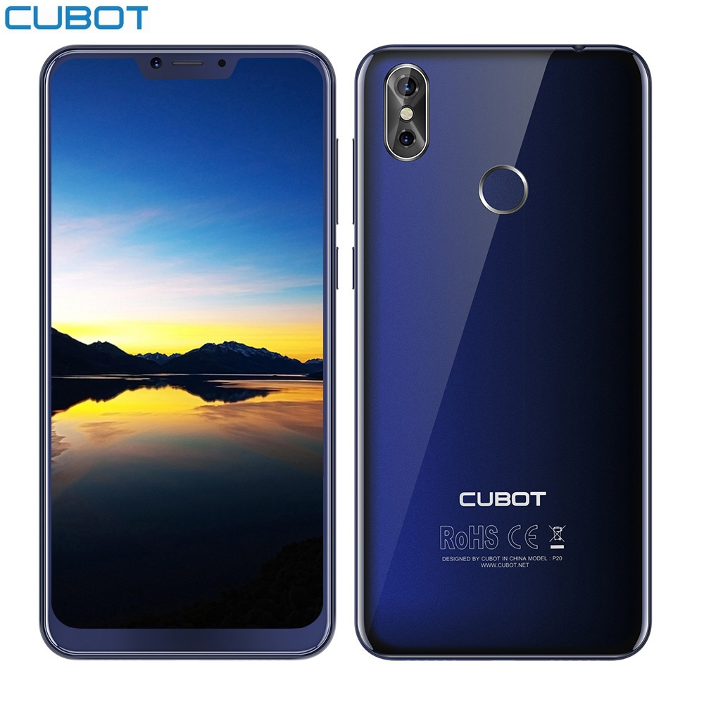 CUBOT P20 4G Smartphone 64gb WCDMA/LTE/GSM Octa Core Fingerprint Recognition 20MP Refurbished