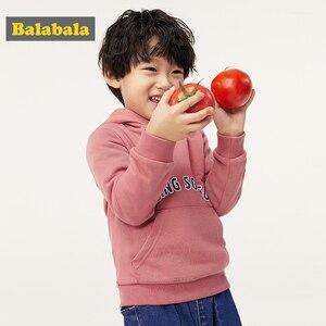 Image 3 - Balabala vêtements dautomne pour enfants, sweat shirt dautomne pour filles et garçons, nouveau style, 2019, vêtements à capuche