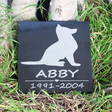 Dog Memorial Stones for Cat-Pattern 6-6--Inch JSYS Granite Personalized