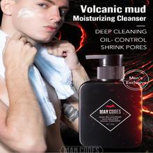 150ml Men Volcanic Mud Facial Cleanser Oil-control Deep Cleansing Moisturizing Foam Acne Treatment Facial Cleanser