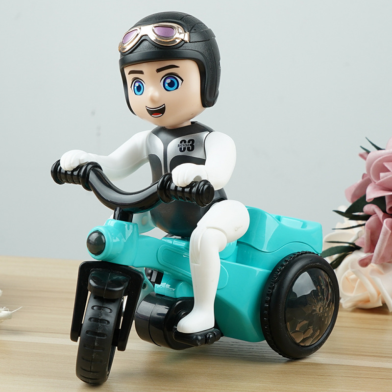 Douyin Celebrity Style Sound And Light Boy Cycling Baby 4-5-Year-Old CHILDREN'S Toy Birthday Gift Hot Selling Stunt Tricycle