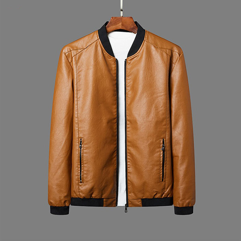 Jackets Men Brand Clothing PU Leather Jacket Men Plus Size Blazer Casual Mens Jackets Motorcycle Windbreake 5XL 6XL 7XL 8XL Plus
