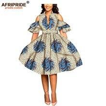 2019 African print dresses for women ankara fabric dashiki dress Petal Sleeve party wedding A-line AFRIPRIDE A1925039