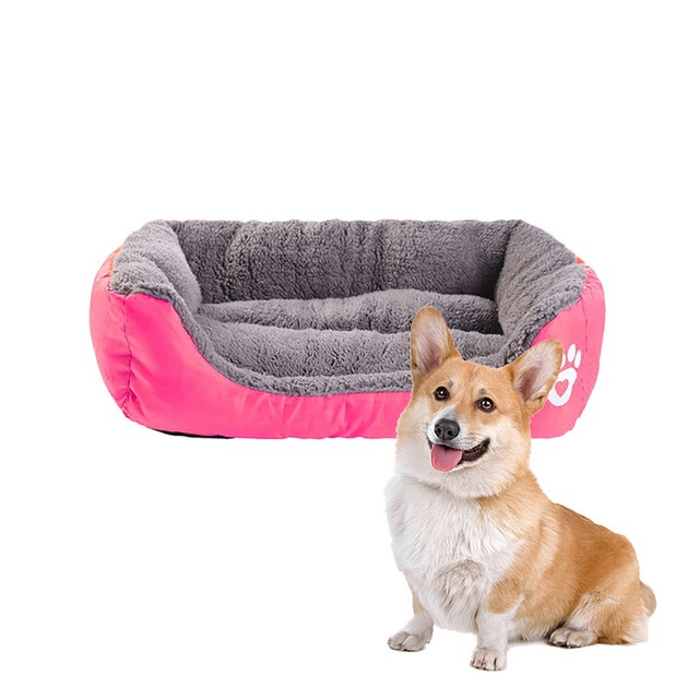 (S-3XL) Large Pet Cat Dog Bed 8Colors Warm Cozy Dog House Soft Fleece Nest Dog Baskets Mat Autumn Winter Waterproof Kennel 3